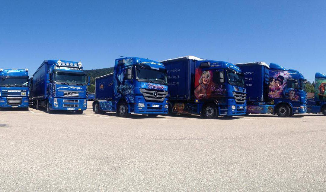 camion décoré poids lourds transporteur national